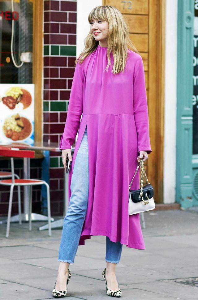 d66a62f6f44d Κάν το όπως οι fashionistas  Φόρεμα πάνω από το παντελόνι - ELLE