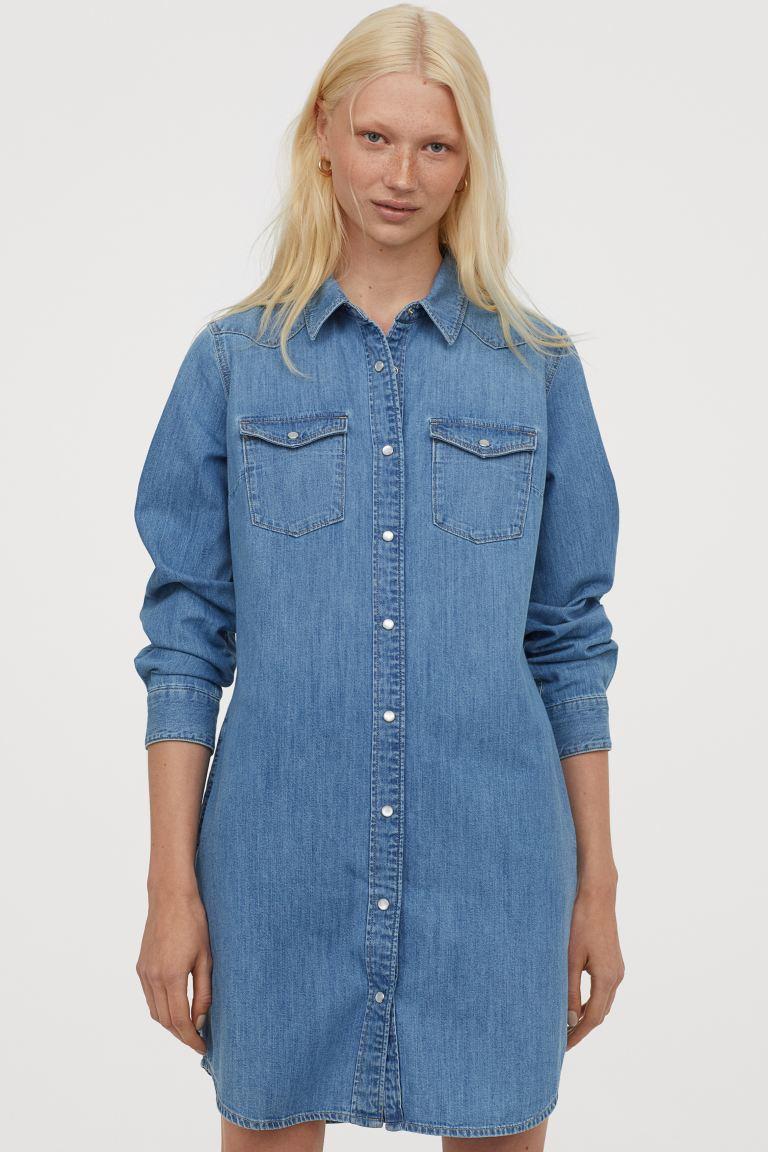 Τζην σεμιζιέ φόρεμα, H&M.