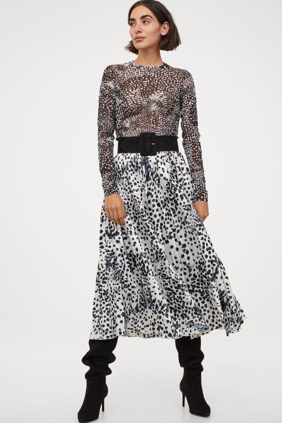 Φούστα με animal prints, H&M.