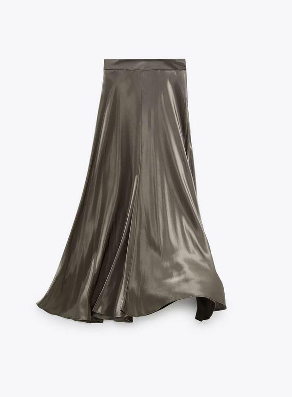 Σατέν φούστα, Zara.