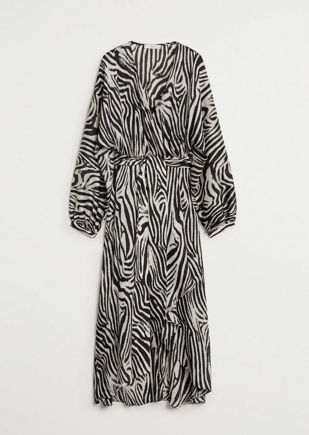 Φόρεμα με zebra prints, Mango.