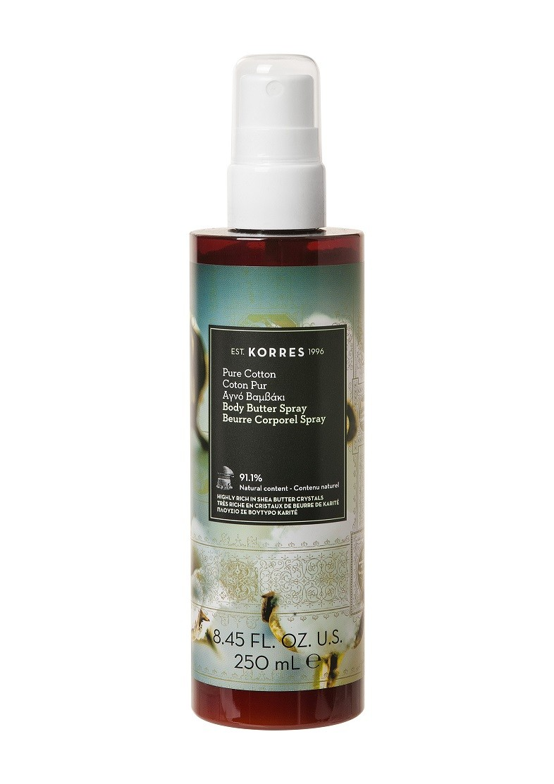 KORRES BODY BUTTER SPRAY PURE COTTON