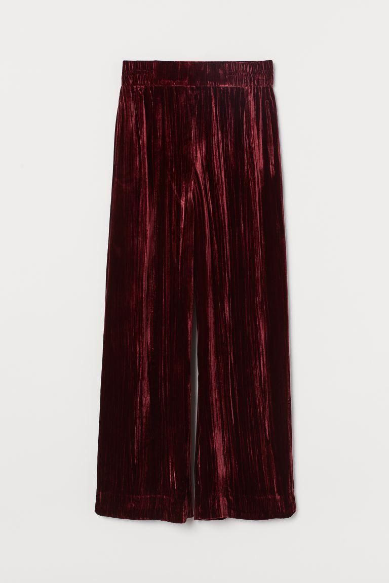 Βελούδινη παντελόνα, H&M.