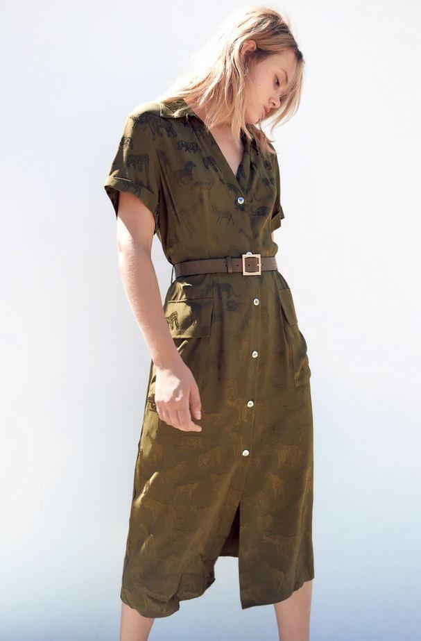 Χακί φόρεμα, Zara.