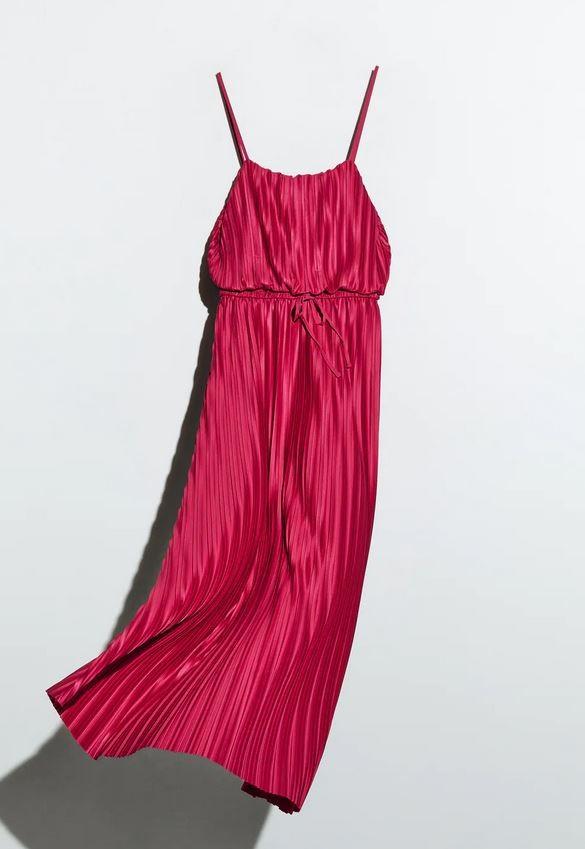 Φούξια φόρεμα, Zara.