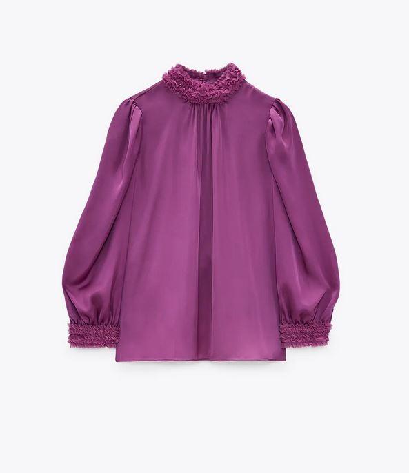 Σατέν πουκάμισο, Zara.