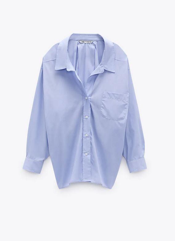 Πουκάμισο γαλάζιο, Zara.