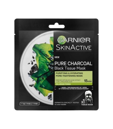 Sheet μάσκα Pure Charcoal Black Tissue Mask, της Garnier.