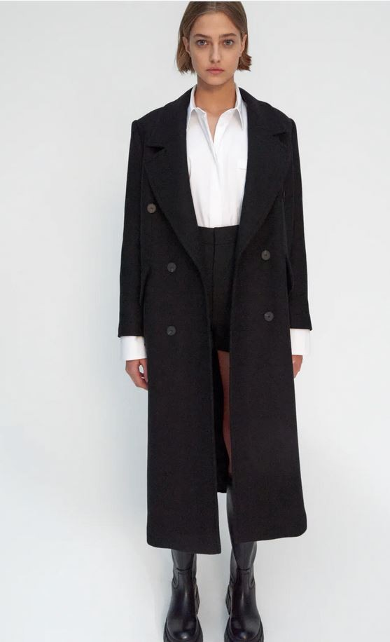 Μαύρο παλτό, Zara.