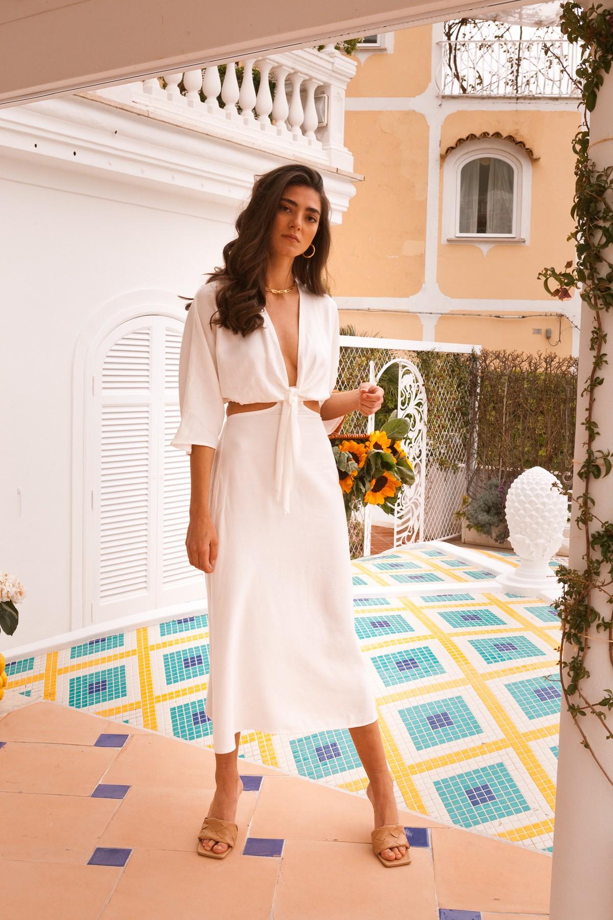 λευκά φορέματα