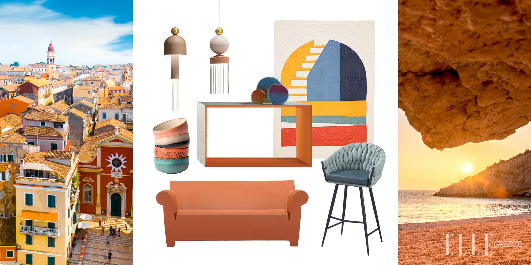 Τα υπέροχα χρώματα των Επτανήσων τρυπώνουν στο σπίτι σου (13 items διακόσμησης) Oι ώχρες και τα γήινα κίτρινα της Κέρκυρας, τα πορτοκαλί στα σπίτια της Κεφαλλονιάς, το κόκκινο των παραθύρων στο Κιόνι της Ιθάκης, τα γαλάζια σοκάκια της Λευκάδας μάς εμπνέουν και φέρνουν τον αέρα του Ιονίου όπου και αν είμαστε.